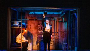 Robert Lindsay in a scene from Anything Goes by Cole Porter at the Barbican Theatre - Credit: Tristram Kenton