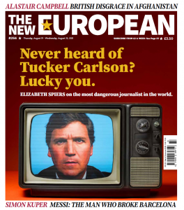 The New European print edition cover, August 19-25, 2021