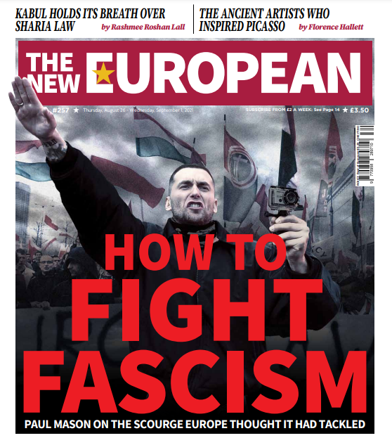 The New European print edition cover