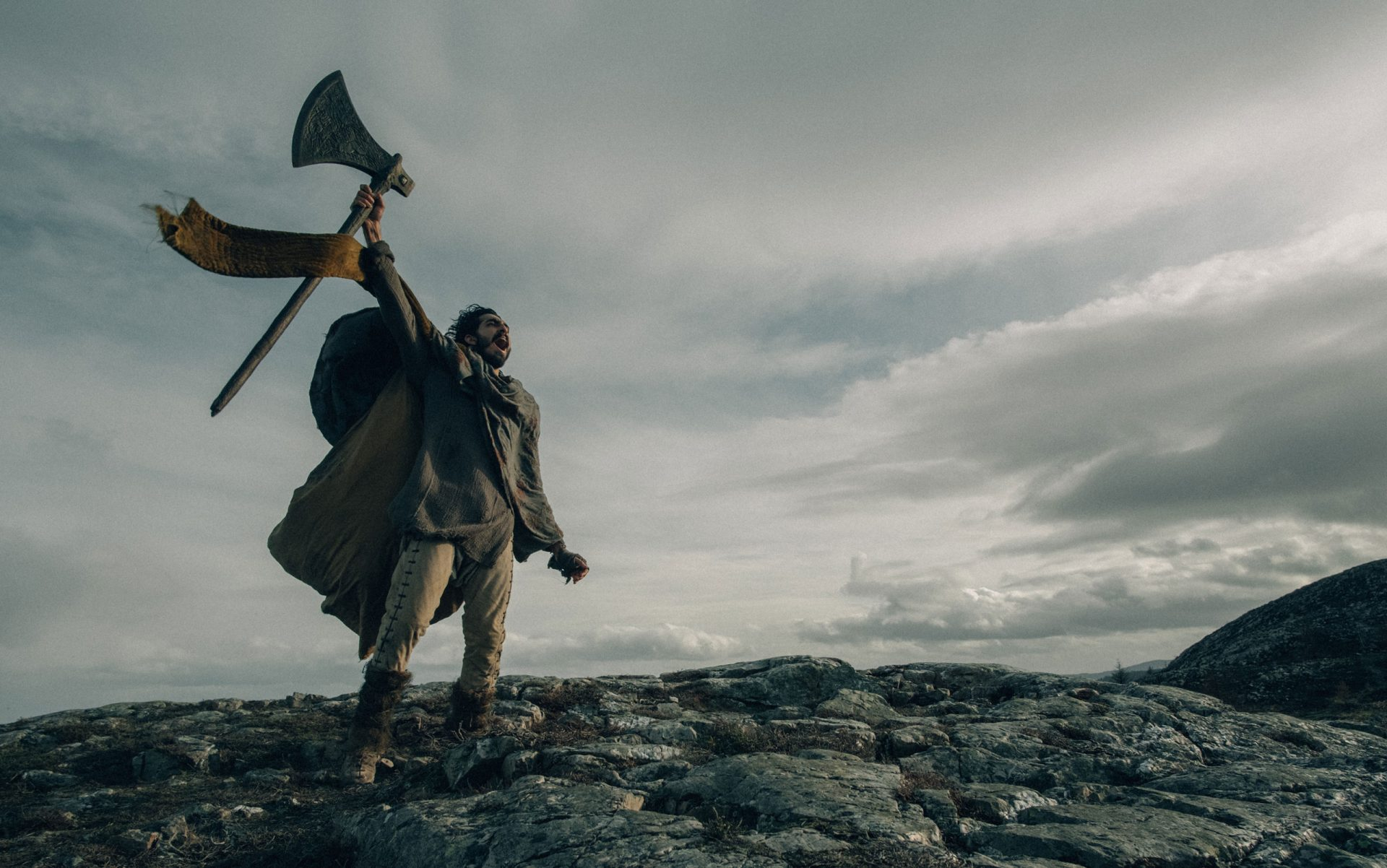 A scene from the delayed movie version of The Green Knight, starring Dev Patel Credit: Eric Zachanowich/ Courtesy A24