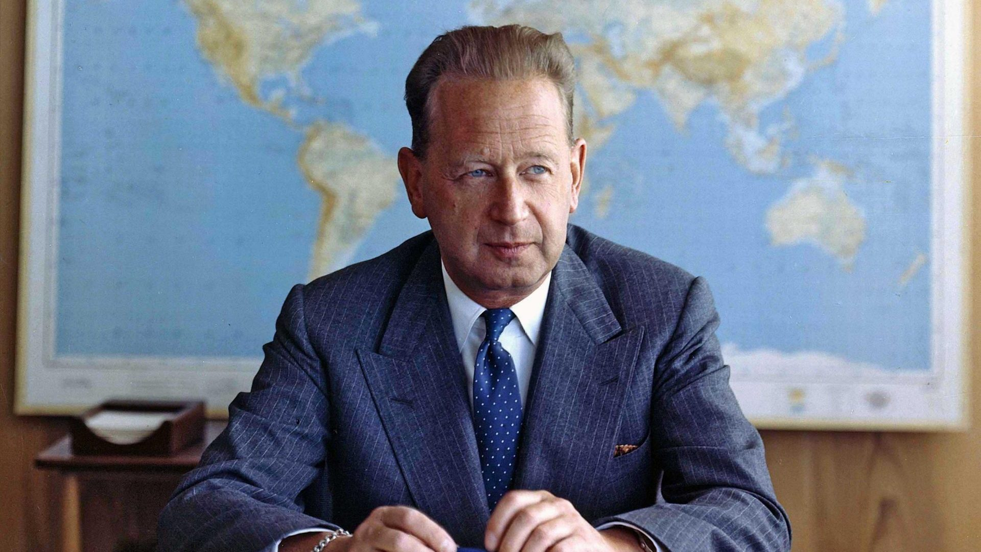 Dag Hammarskjold, the second UN secretary-general, in a photo from 1960, the year before his death in an air crash. Credit: Photo12/Universal Images Group
