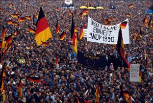 Germany was reunited as a country in 1990. Photograph: Patrick Piel/Getty Images.