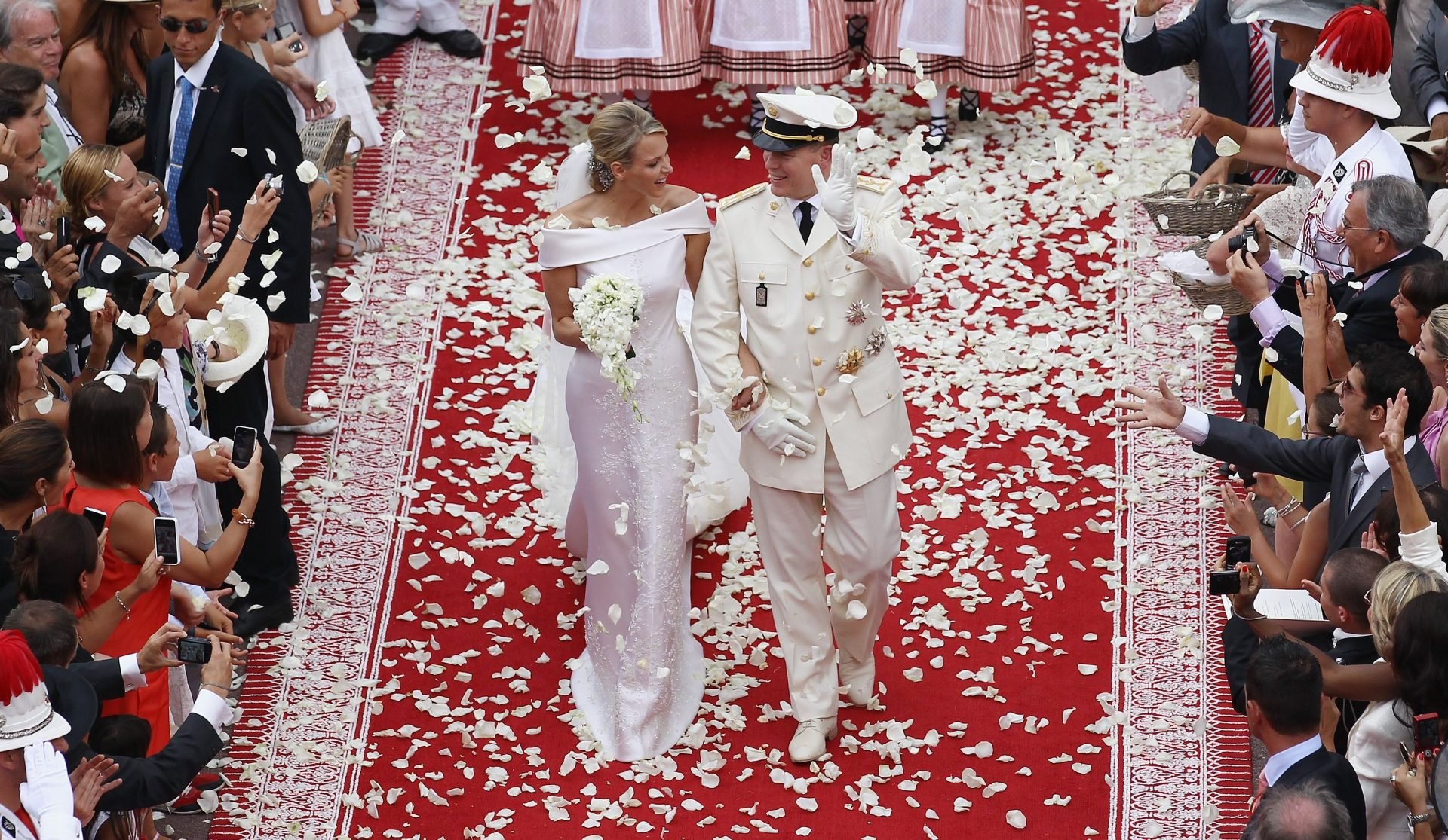 The lavish wedding of Albert to Charlene cost a rumoured m, with celebrations running several days and night. Photo: Andreas Rentz/Getty Images