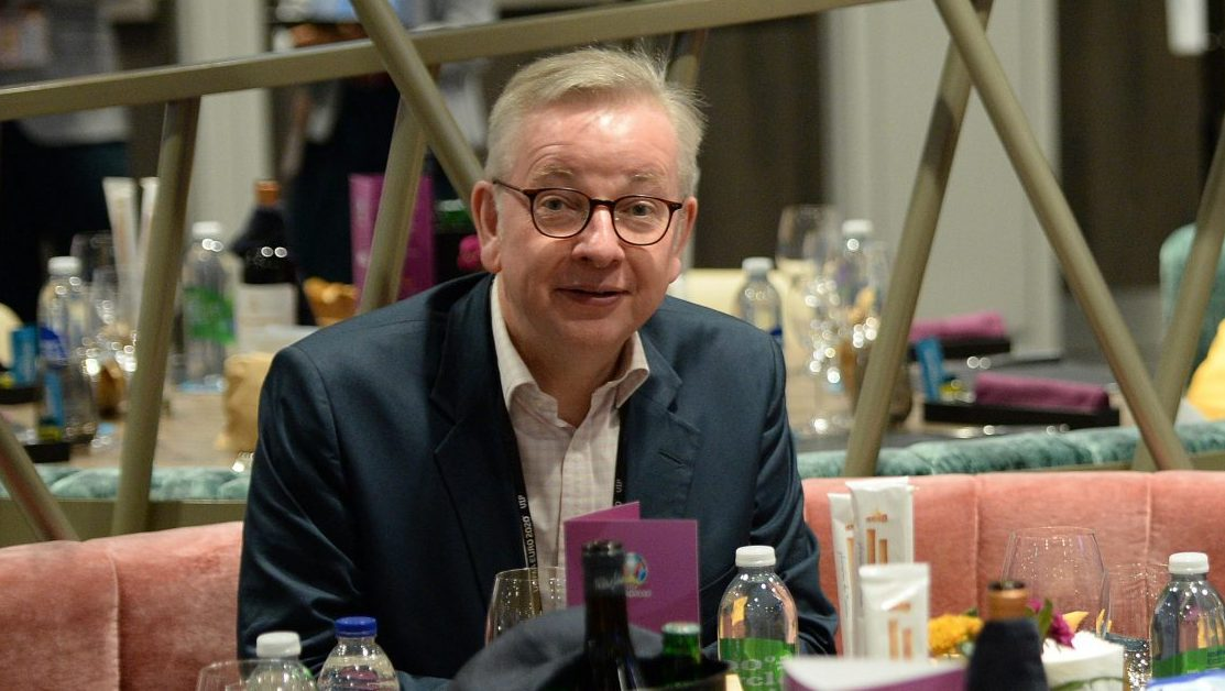 Not noted for his level head, Michael Gove will head the new Department for Levelling Up. Photo: Eamonn McCormack/UEFA via Getty Images