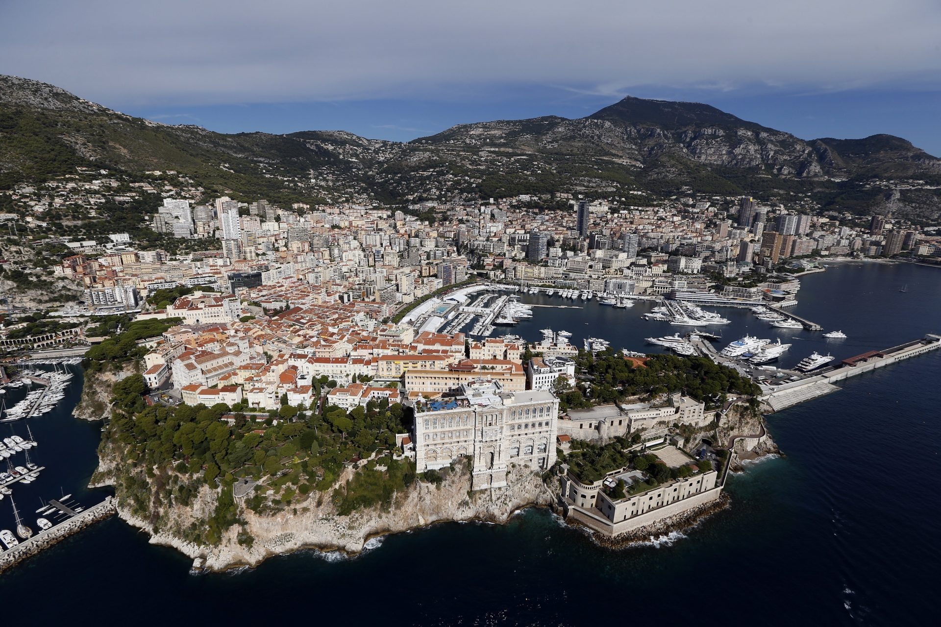 An aerial view of Monaco. Photograph: Getty Images.