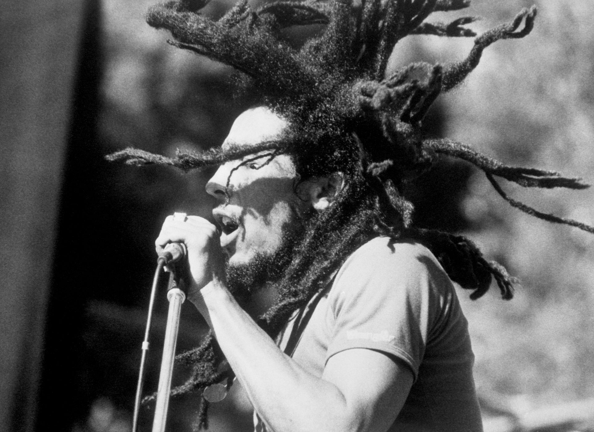 Jamaican Reggae singer Bob Marley on stage. Credit: PA/PA Archive/PA Images