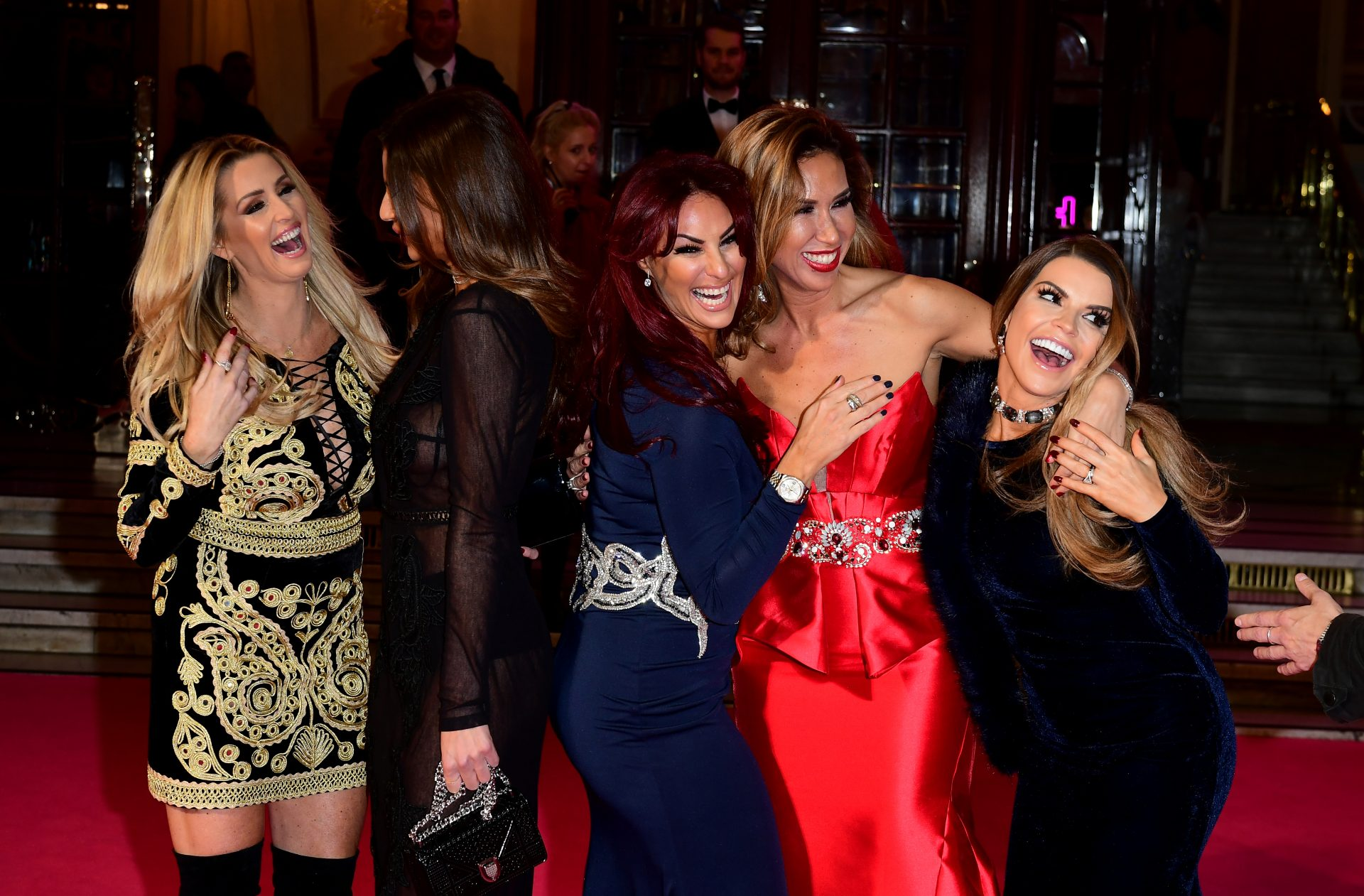 The Real Housewives of Cheshire cast Leanne Brown, Misse Beqiri, Lauren Simon, Ampika Pickston and Tanya Bardsley attending the ITV Gala at the London Palladium. Credit: Ian West/PA Archive/PA Images