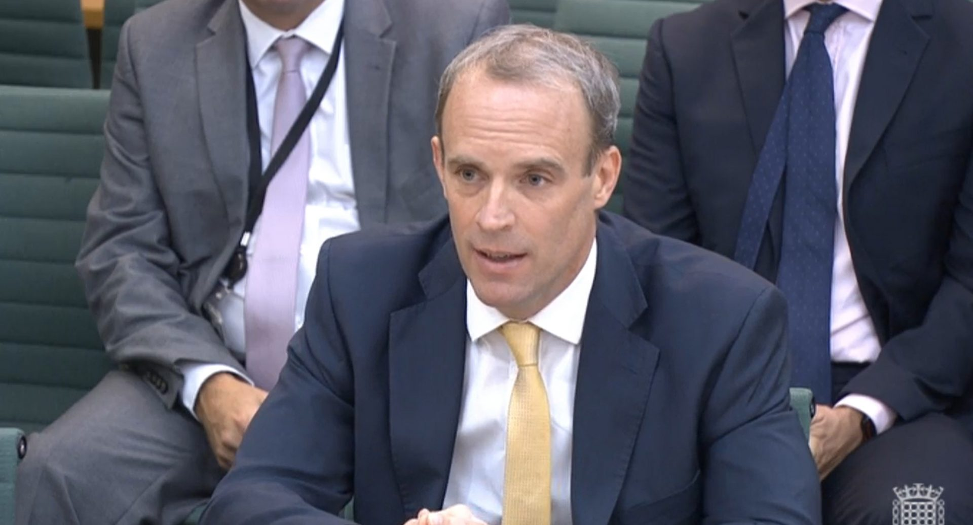 Foreign Secretary Dominic Raab giving evidence to the Commones Foreign Affairs Committee in London, about the Government's handling of the Afghanistan crisis. Credit: House of Commons/PA Wire/PA Images