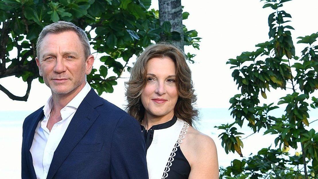 Daniel Craig and Barbara Broccoli at Ian Fleming's home, 'GoldenEye', in Montego Bay, Jamaica. Credit: Slaven Vlasic/Getty Images for Metro Goldwyn Mayer Pictures