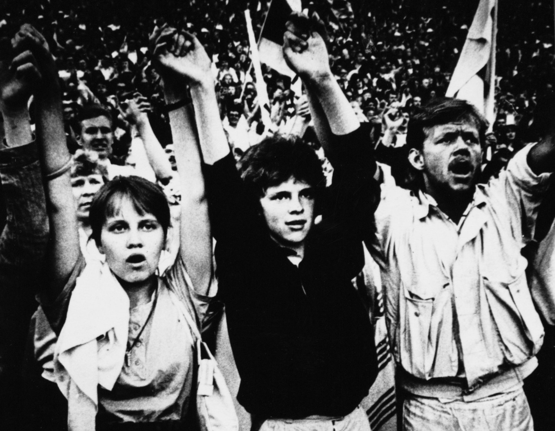 Estonians during the 'Singing Revolution' in 1988, when music galvanised the mood for change. Credit: Kalju Suur/Focus/Universal Images Group via Getty