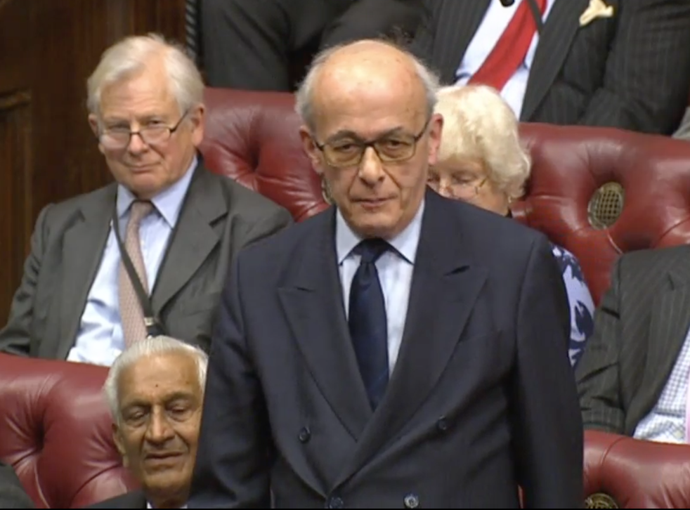 Lord Kerr in the House of Lords. Photograph: Parliament Live.