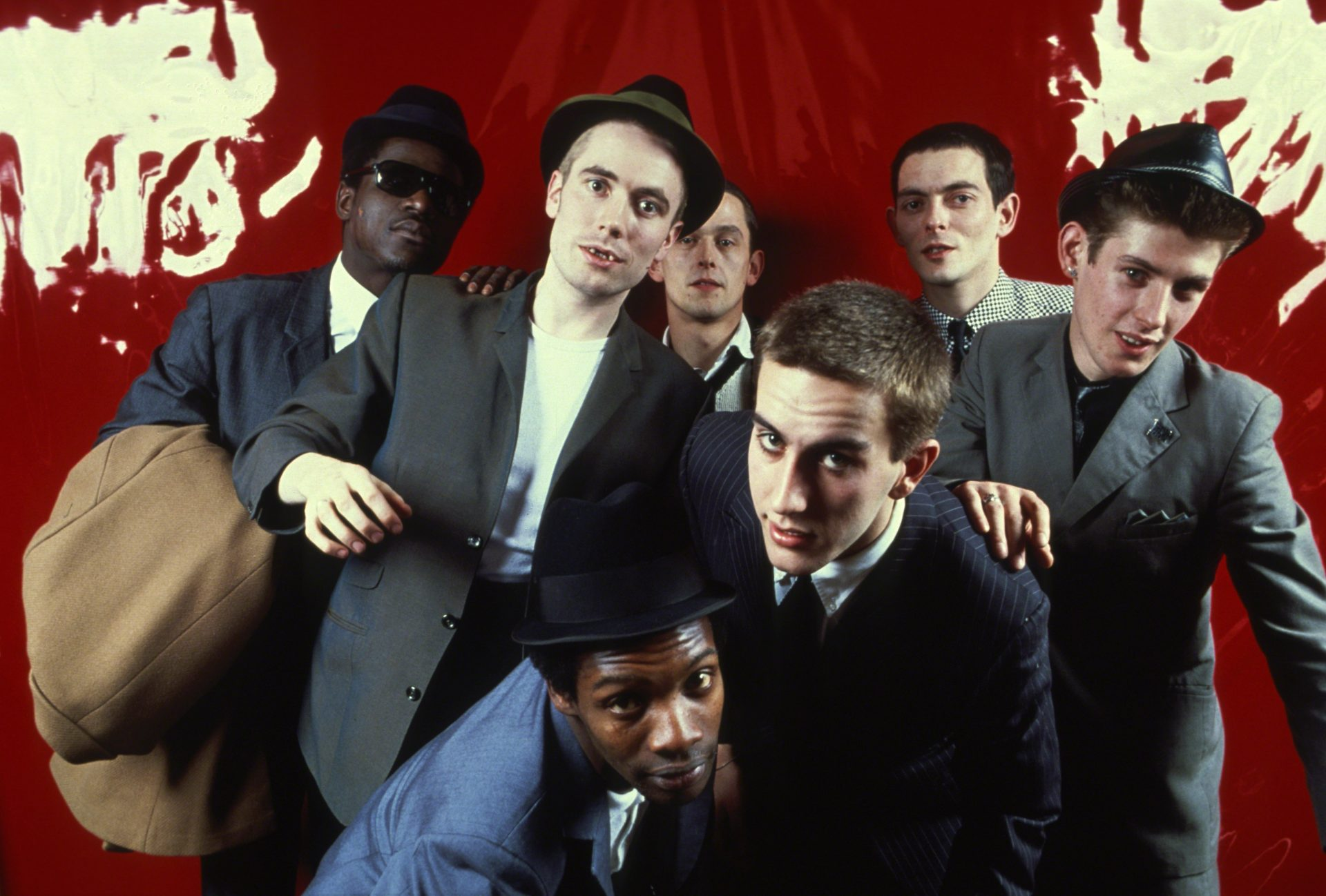 The Specials in New York City, 1980. Panter, centre back, Golding and Hall, centre front. Credit: Allan Tannenbaum
