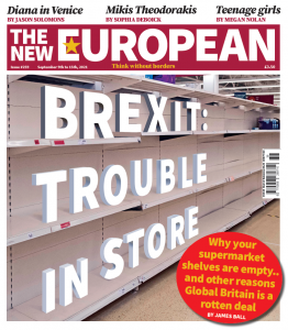 The New European print edition cover, 9 - 15 September