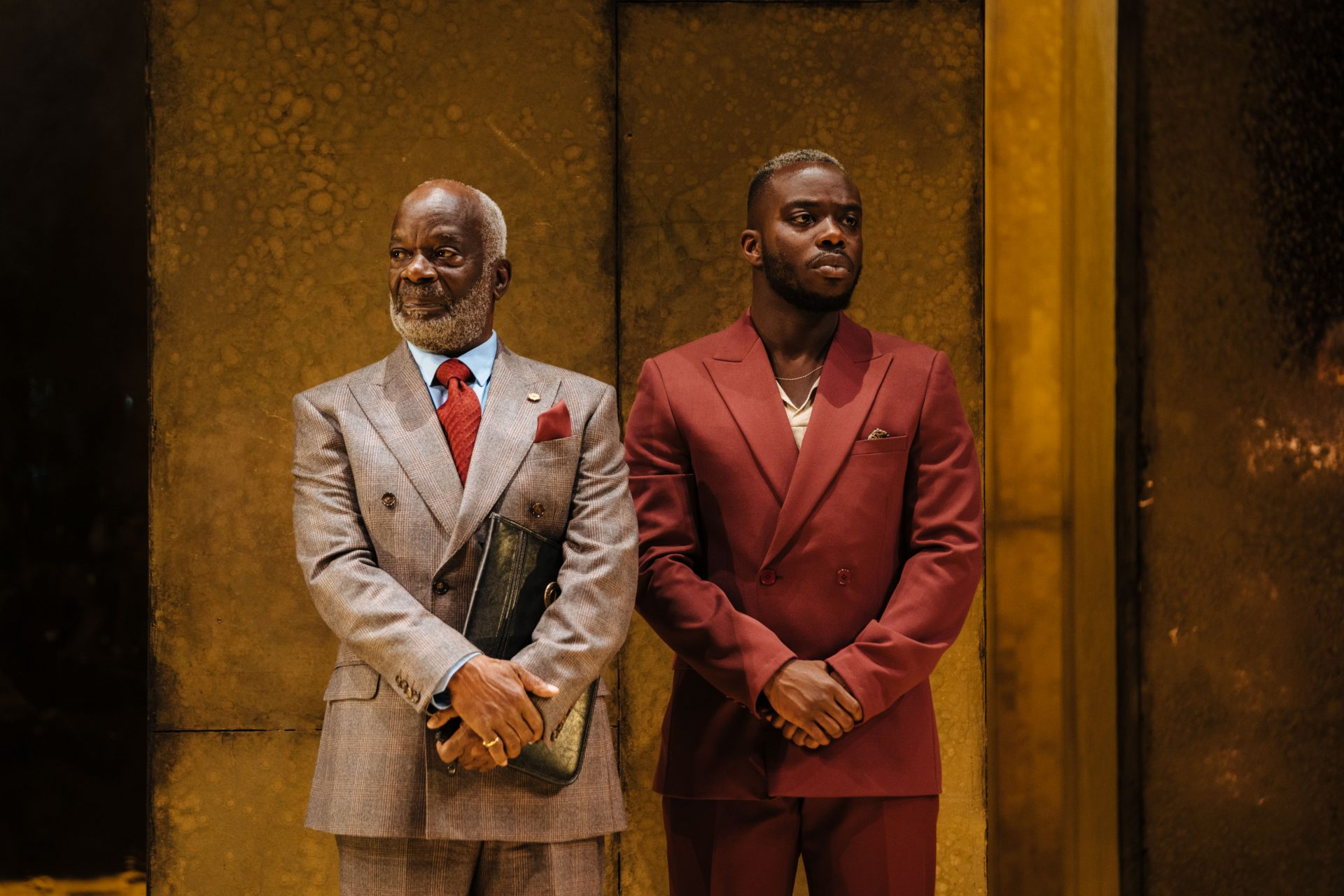 Joseph Marcell and Jonathan Ajayi in Hamlet at the Young Vic. Photo: Helen Murray