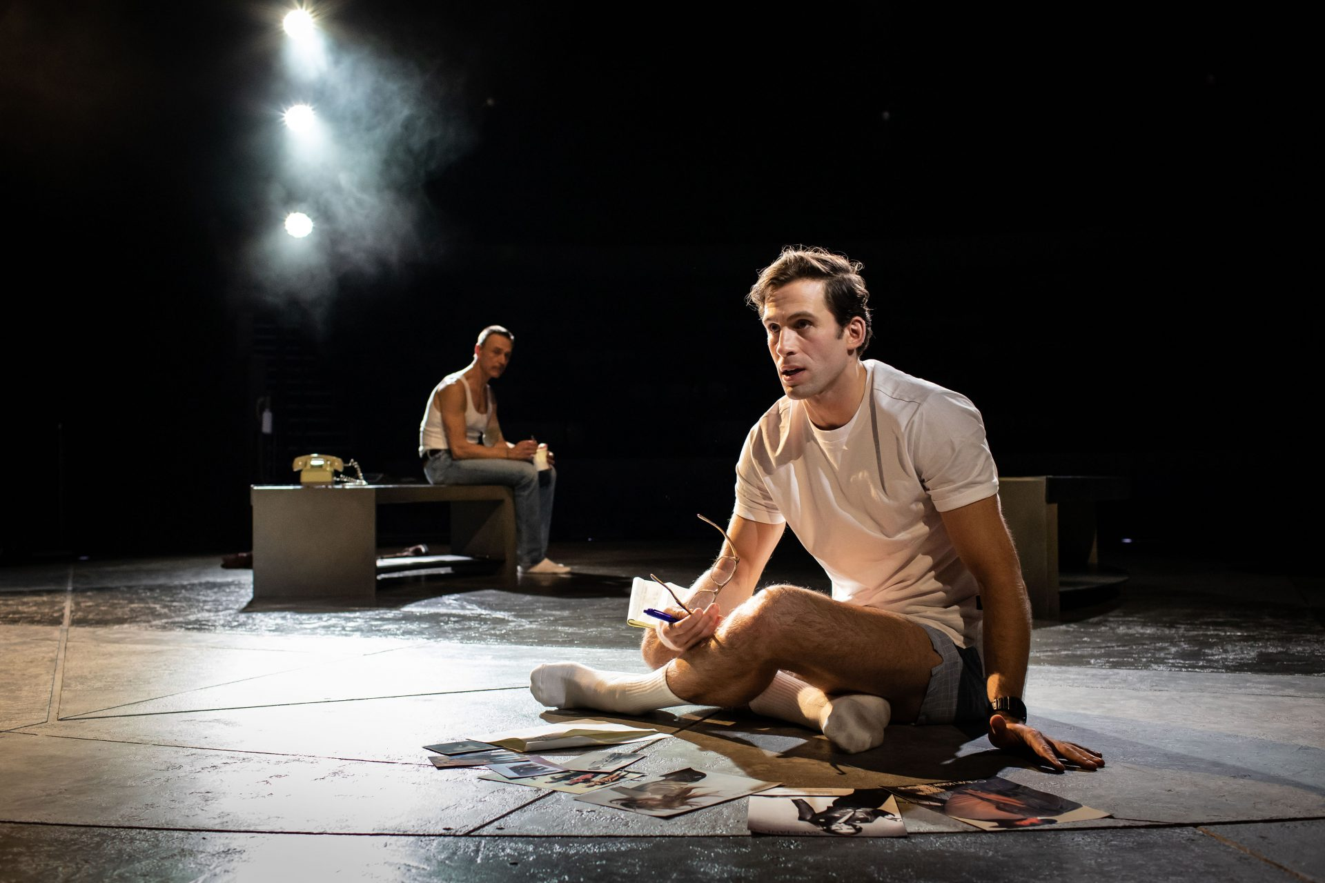 Dino Fetscher and Ben Daniels in The Normal Heart. Credit: Helen Maybanks