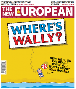 The New European's print cover, 14 to 20 October, 2021.