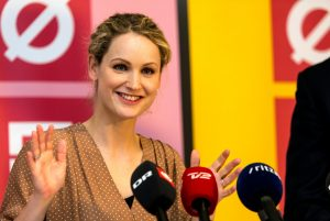 Danish MP Pernille Skipper was thrown out of the Danish parliament. Photograph: Getty Images.