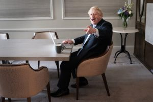 All spin, no strategy. Boris Johnson preparing his Tory conference speech. Photo: Stefan Rousseau/ Pool/Getty Images Images