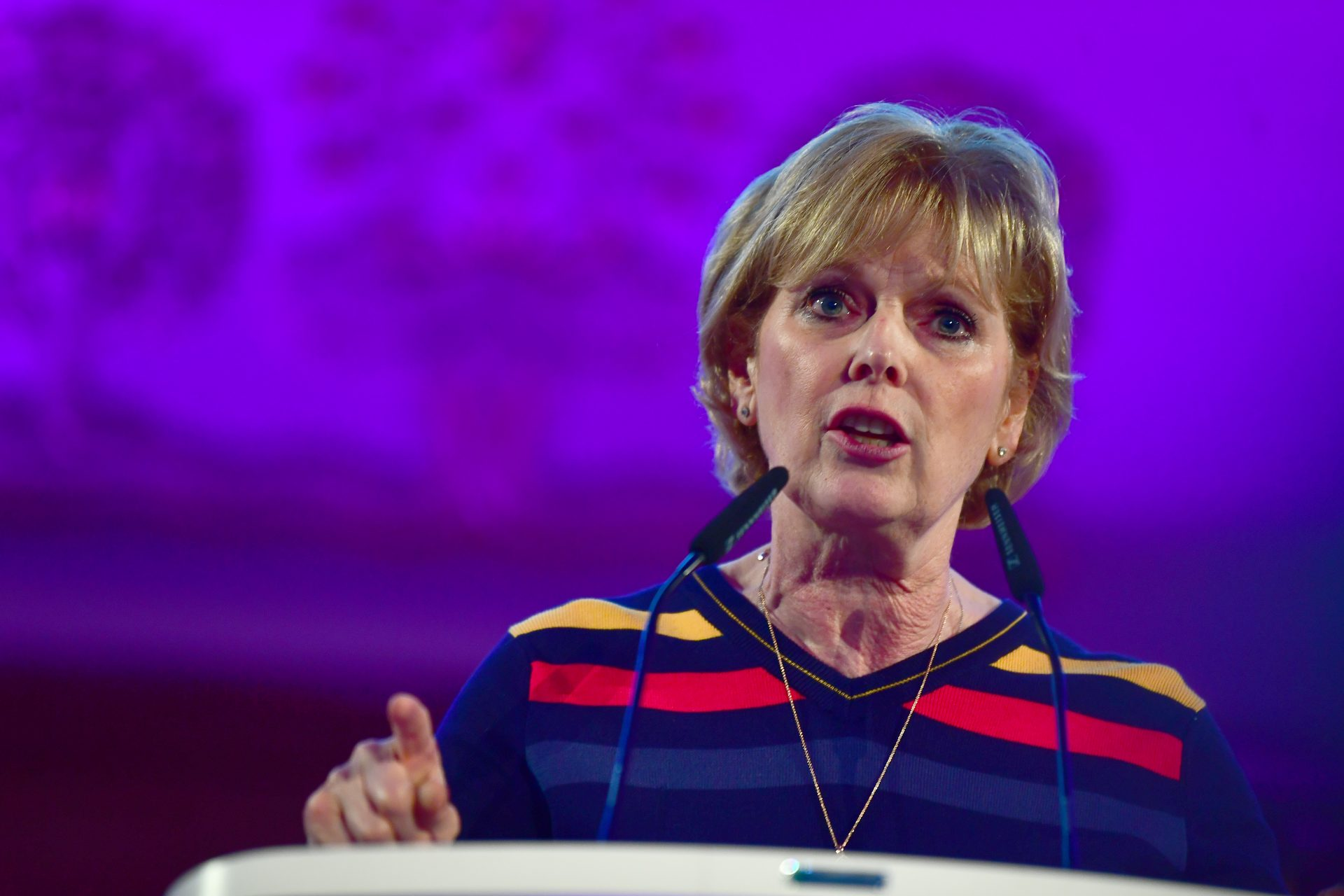 MP Anna Soubry speaks at the People's Vote Rally in Assembly Hall, Westminster. Credit:  Victoria Jones/PA Archive/PA Images