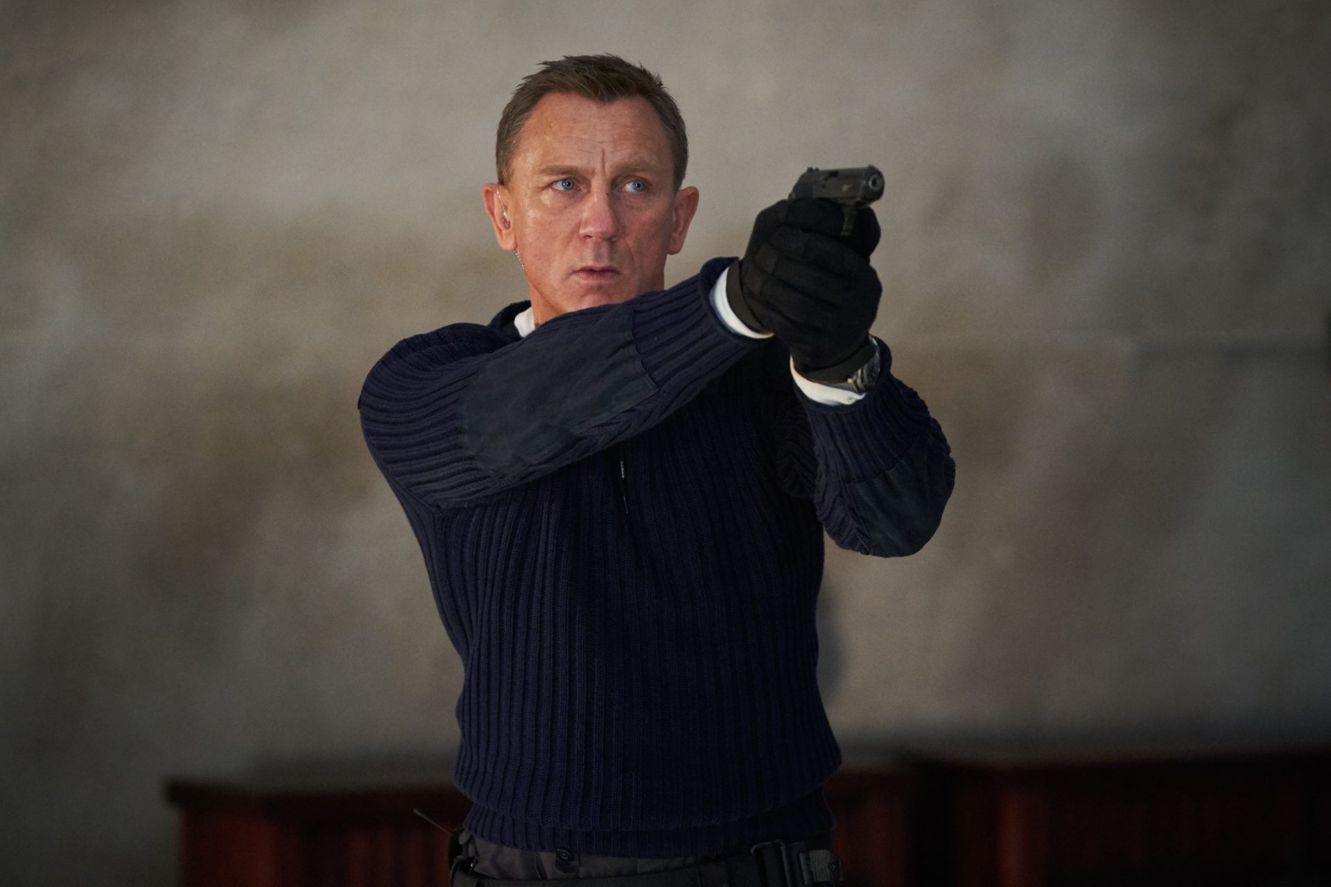 Daniel Craig playing James Bond in the new Bond film No Time To Die. Photograph:  Nicola Dove/PA Wire/PA Images.