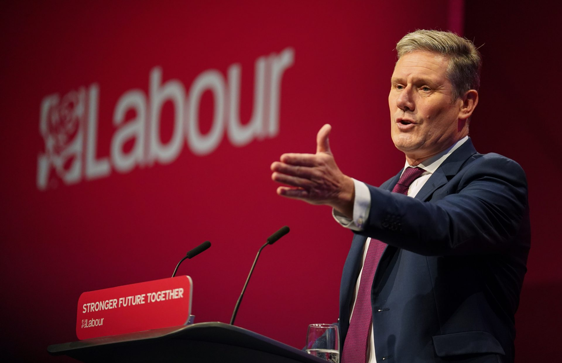 Keir Starmer claimed at conference he wanted to see Brexit work. Photograph: PA.