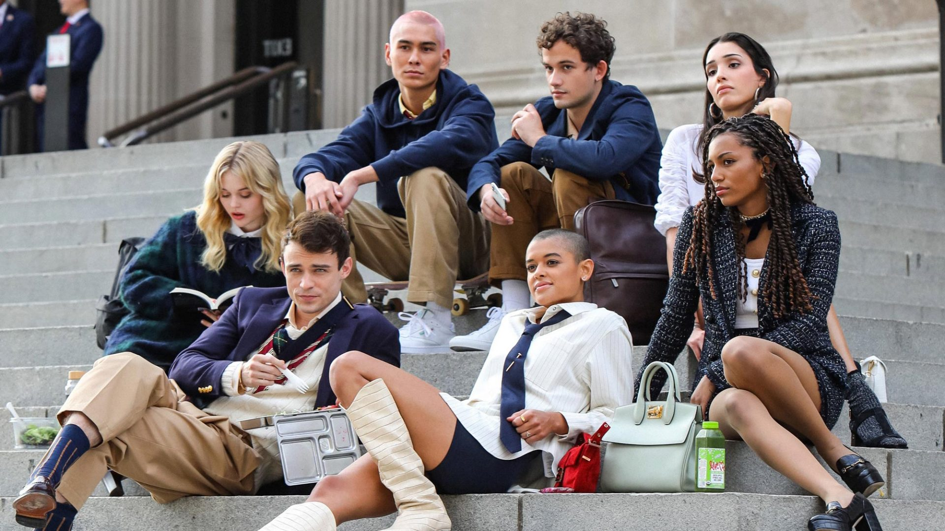 The cast of the rebooted Gossip Girl. Photo: HBO