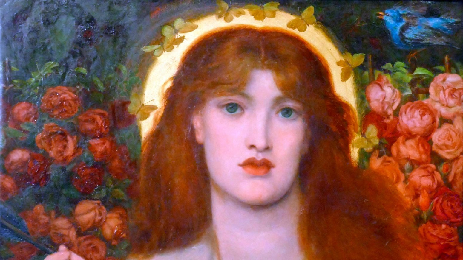 Rosetti's Venus Verticordia (1868). The original model's face was replaced with that of Alexa Wilding. Credit: Universal History/Archive/Universal Images/Group via Getty Images